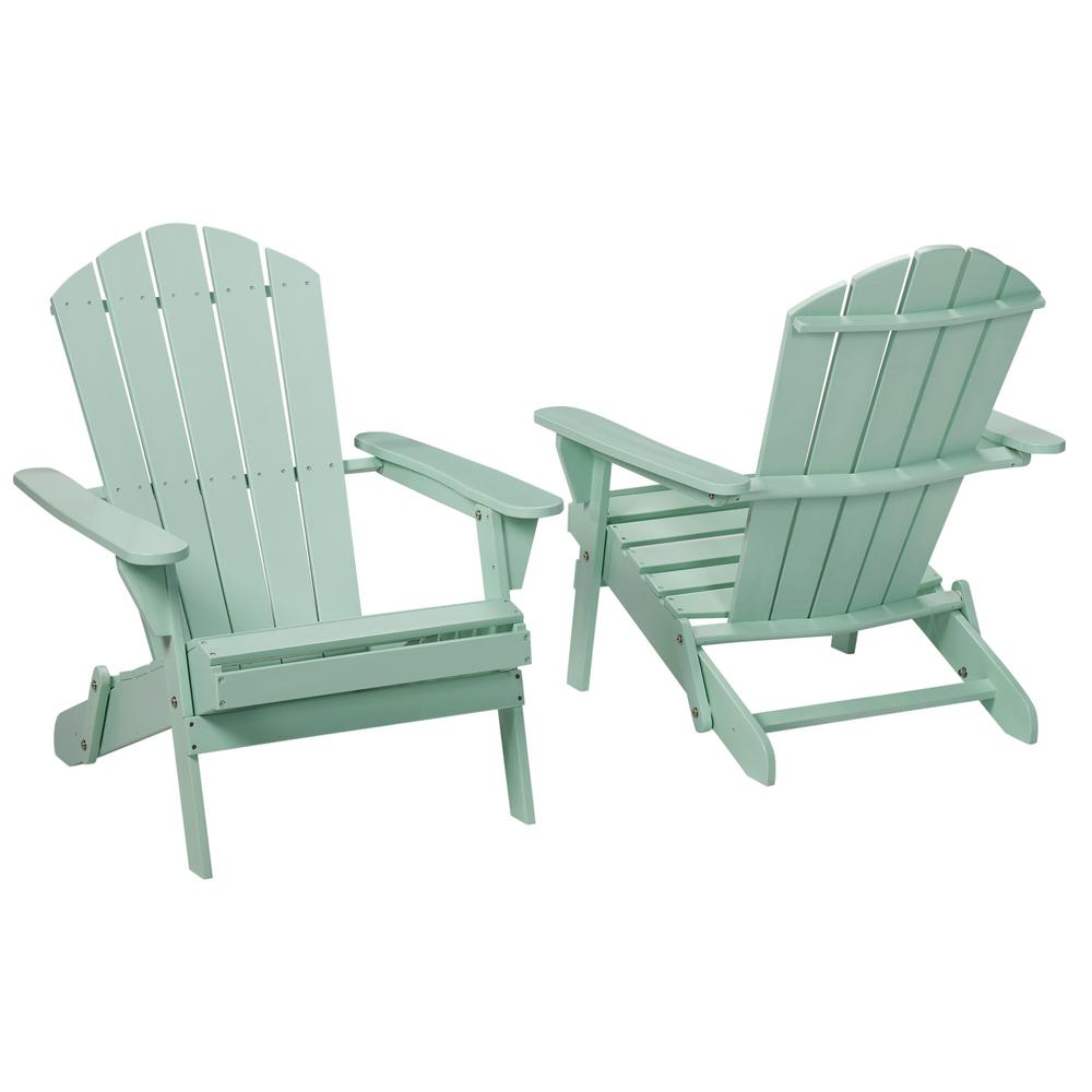 chair 1 2 black leather and a half with ottoman hampton bay mist folding outdoor adirondack pack