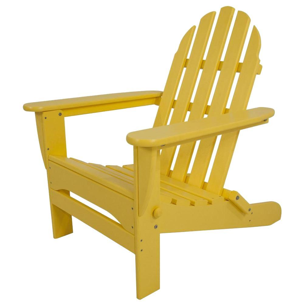 yellow adirondack chairs plastic modern armchairs nz polywood classic lemon patio chair ad5030le the