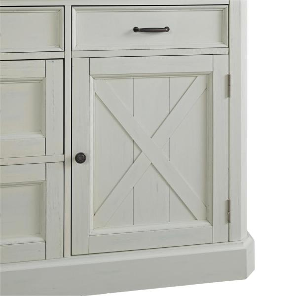 Homestyles Seaside Lodge Hand Rubbed White Kitchen Island With Granite Top 5523 94 The Home Depot