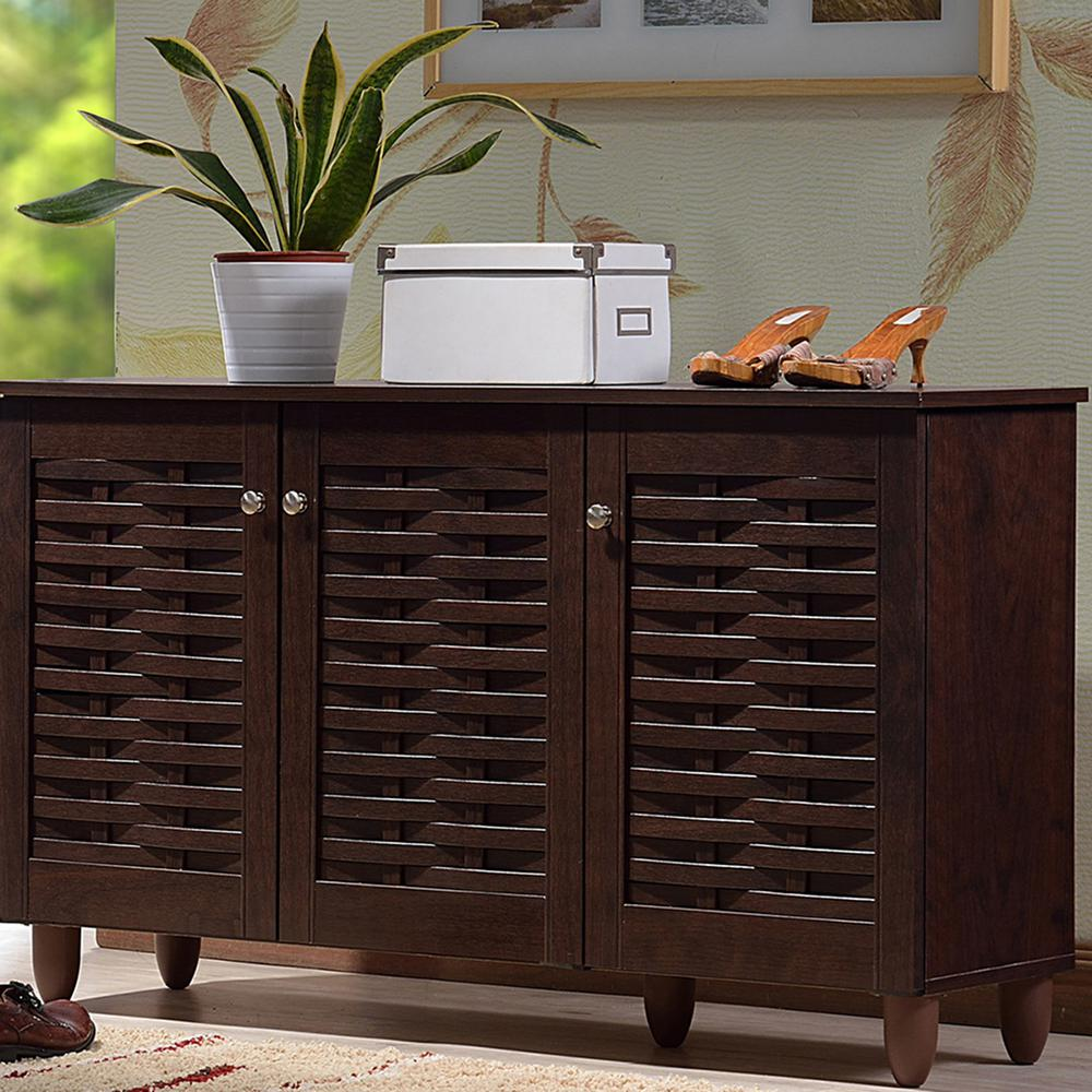 Shoe Storage Rack Organizer Cabinet Baxton Modern