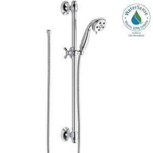 Delta 3-Spray 2.0 GPM Hand Shower with Slide Bar in Chrome