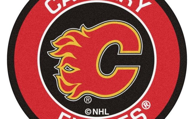 Fanmats Nhl Calgary Flames Red 2 Ft X 2 Ft Round Area