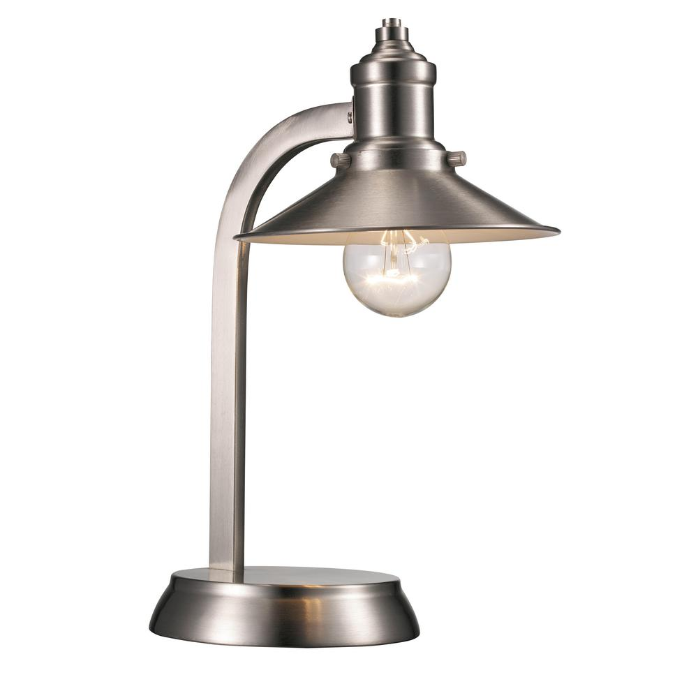 Liberty 13.25 in. Brushed Nickel Table Lamp with Metal
