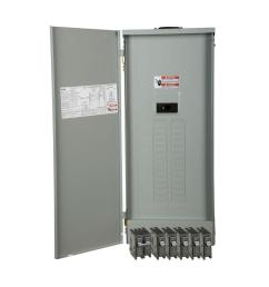 eaton br 200 amp 30 space 40 circuit outdoor main breaker loadcenter with cover [ 1000 x 1000 Pixel ]
