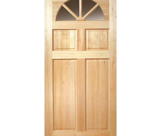 Fan Lite  Panel Unfinished Fir Wood