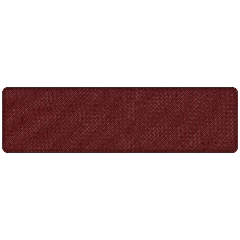 kitchen mats gel granite kitchens gelpro classic basketweave cranberry 20 in x 72 comfort mat