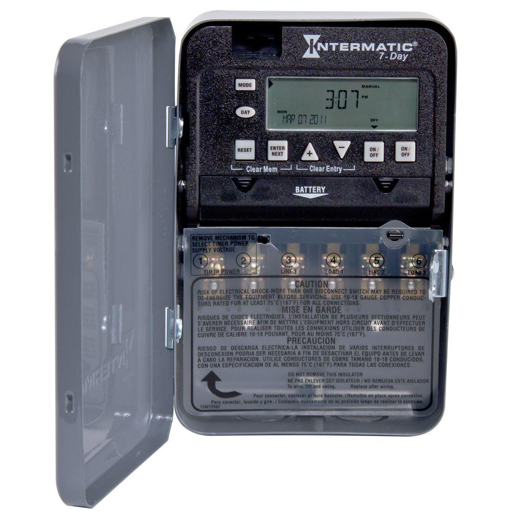 hight resolution of intermatic 30 7 day spst 2 circuit electronic time switch