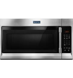 maytag 1 7 cu ft over the range microwave hood in fingerprint resistant stainless steel [ 1000 x 1000 Pixel ]