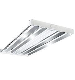 metalux 4 ft 4 lamp white industrial grade t5 fluorescent high bay light [ 1000 x 1000 Pixel ]