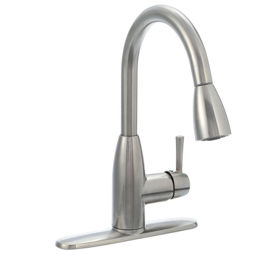 kitchen faucet remodel budget american standard fairbury single handle pull down sprayer in stainless steel