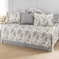 Laura Ashley Ruffle 5-Piece Garden Cream Daybed Set-206829 ...
