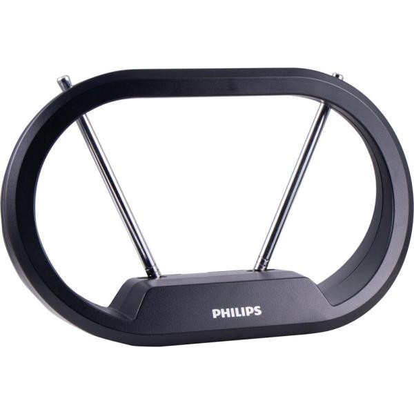 Philips 30-mile Hd Loop Indoor Passive Tv Antenna Black