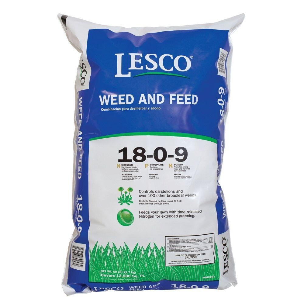 medium resolution of lesco 50 lb weed and feed professional fertilizer 18 0 9