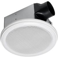 Home Netwerks Decorative White 100 CFM Bluetooth Stereo
