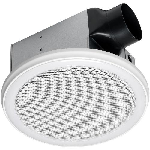 small resolution of decorative white 100 cfm bluetooth stereo speakers bathroom exhaust fan with led light and remote
