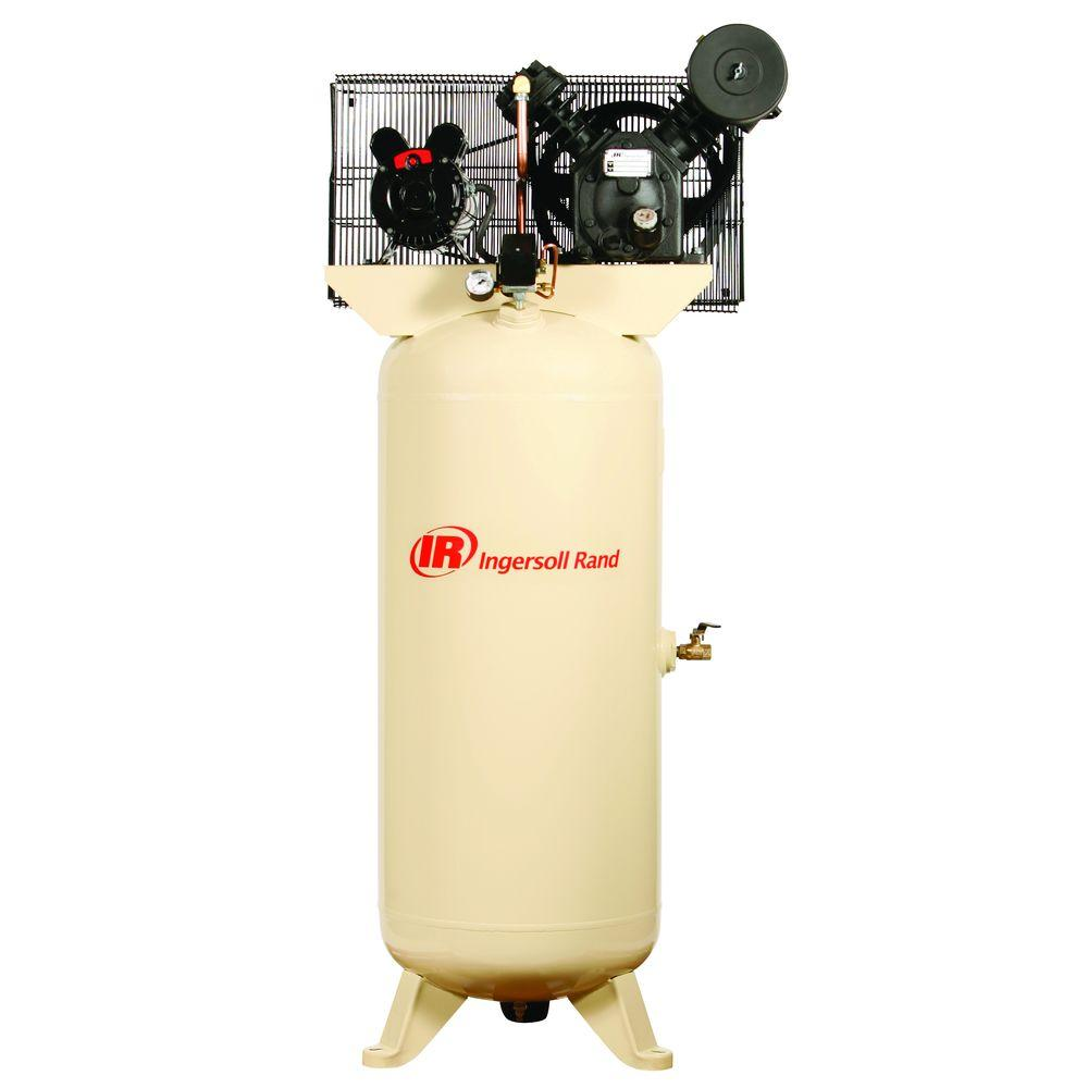 medium resolution of ingersoll rand type 30 reciprocating 60 gal 5 hp electric 230 volt single phase air compressor