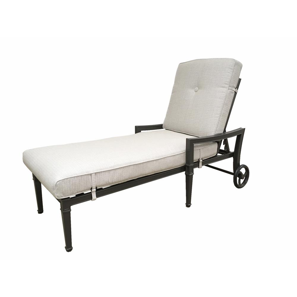 Patio Chaise Lounge in White8010484300  The Home Depot