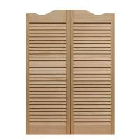 Pinecroft 36 in. x 42 in. Louvered Wood Cafe Door-853642 ...