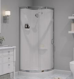 shower kit with reversible sliding door and shower base [ 1000 x 1000 Pixel ]