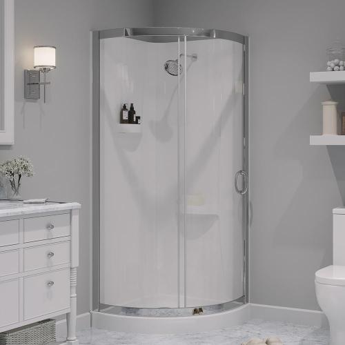 small resolution of shower kit with reversible sliding door and shower base