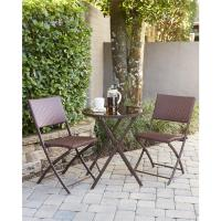Cosco Delray Transitional 3-Piece Steel Dark Brown & Red ...