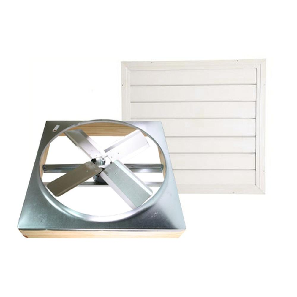 medium resolution of cool attic 30 in direct drive whole house fan with shutter