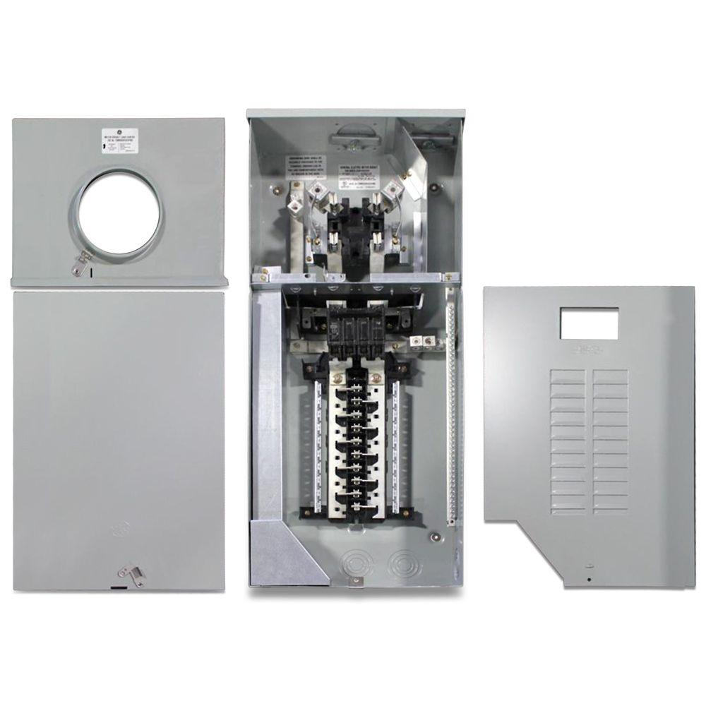 hight resolution of ge 150 amp 4 space 8 circuit outdoor combination main breaker ringless meter socket load