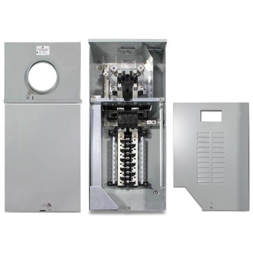 small resolution of ge 150 amp 4 space 8 circuit outdoor combination main breaker ringless meter socket load