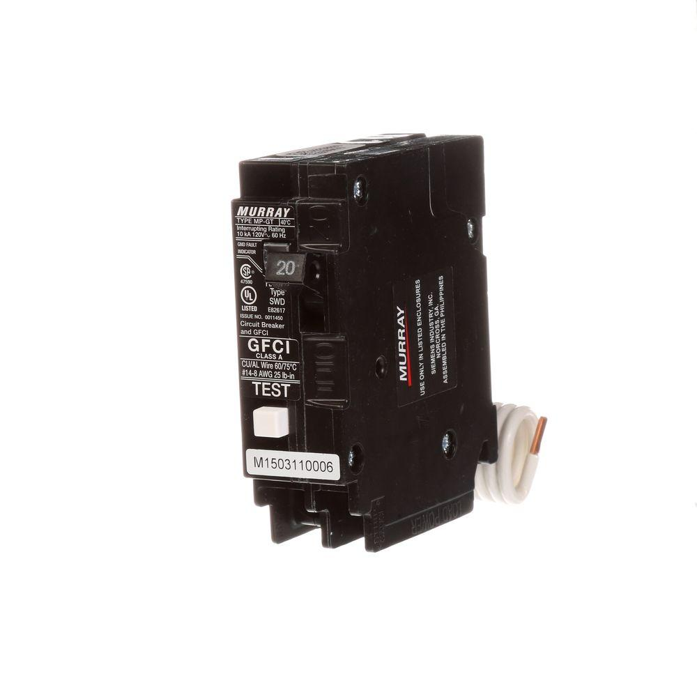 hight resolution of murray 20 amp single pole type mp gt gfci circuit breaker mp120gfp gallery for gt gfci circuit breaker wiring