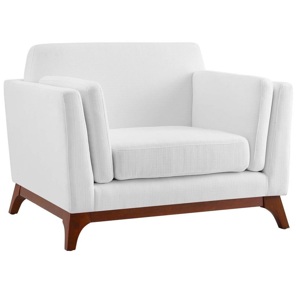 white upholstered chairs table and chair covers ebay modway chance fabric armchair eei 3063 whi the