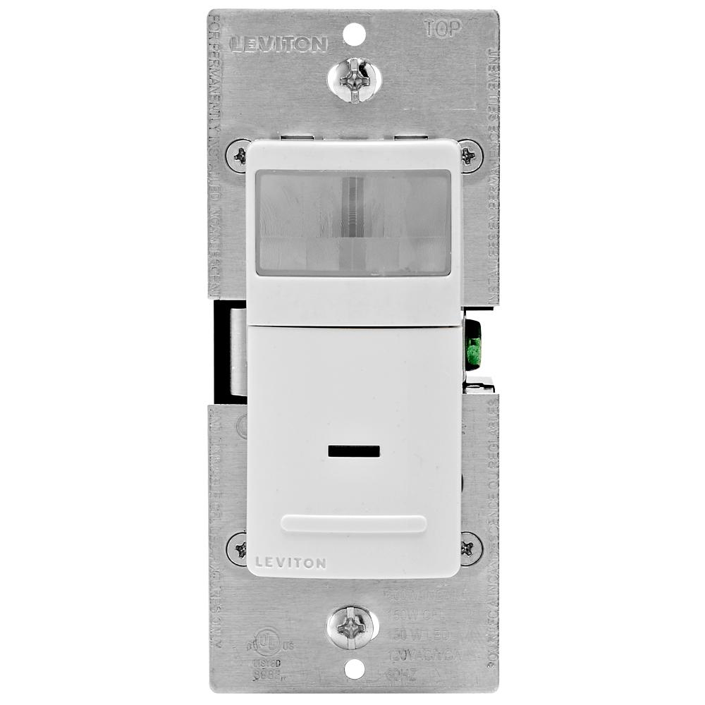 hight resolution of decora motion sensor in wall switch auto on 2 5 a single pole white