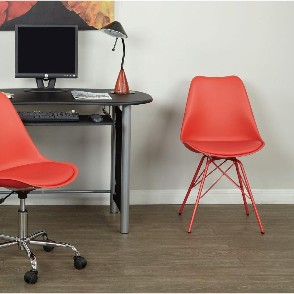Red Desk Chair Emerson Red Student Side Chair