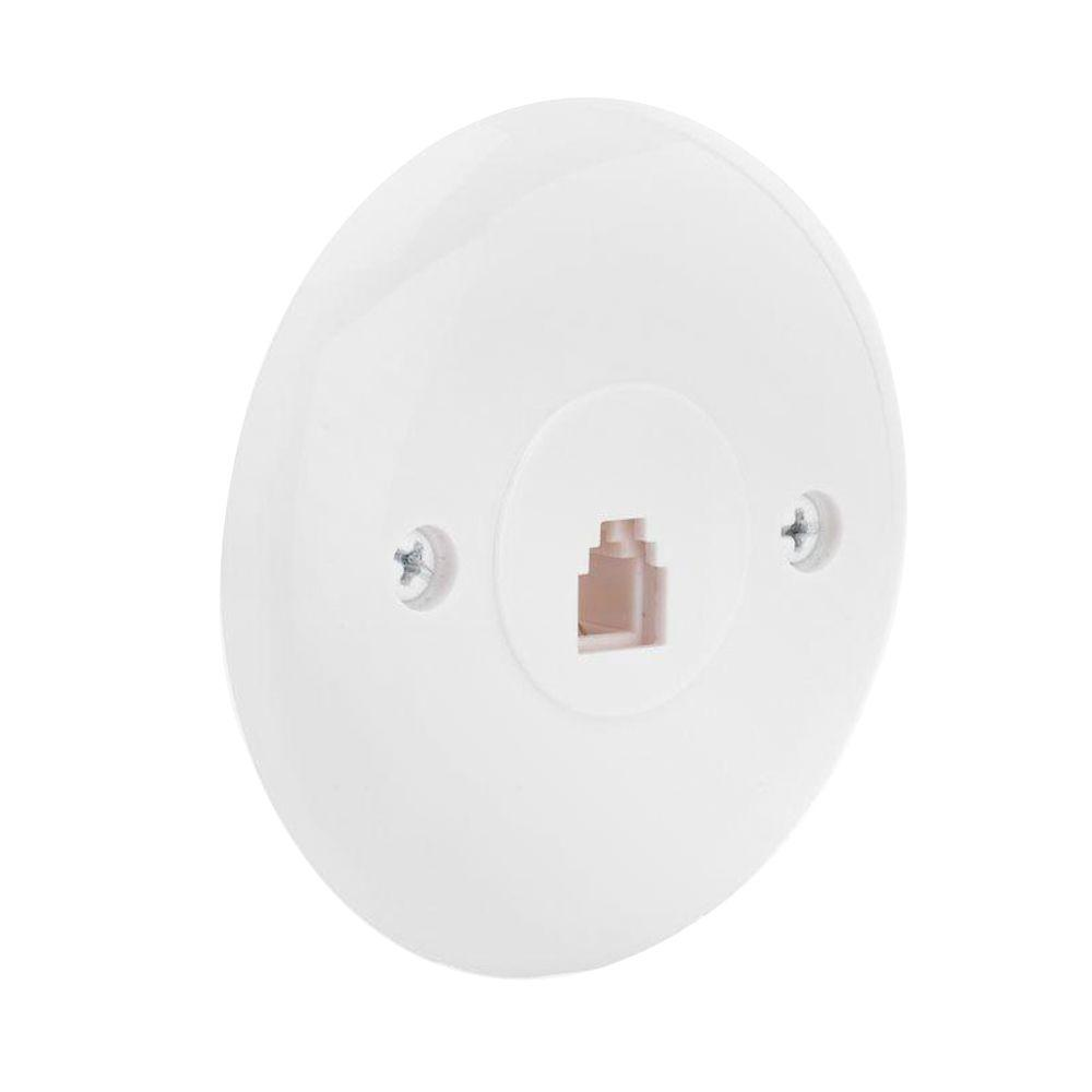 hight resolution of commercial electric 1 line round wall jack wall plate white