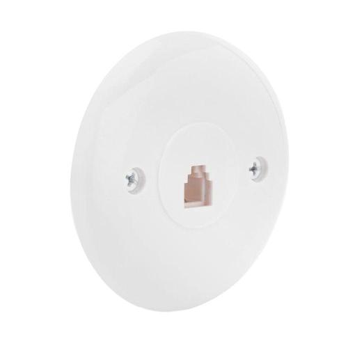 small resolution of commercial electric 1 line round wall jack wall plate white