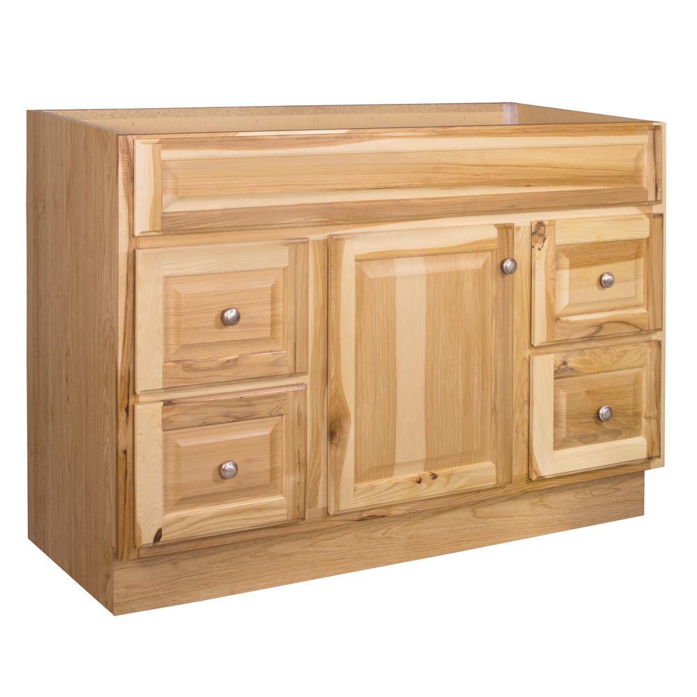 Glacier Bay Hampton 48 in W x 21 in D x 335 in H Bath Vanity Cabinet Only in Hickory