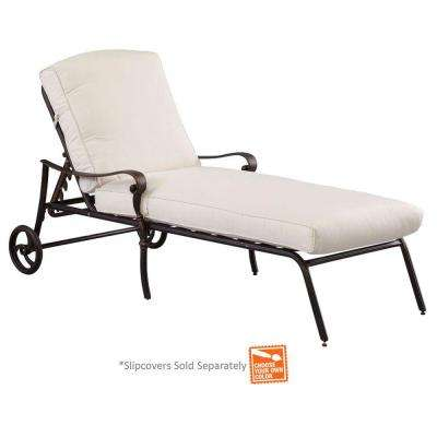 outdoor chaise lounge chairs with wheels chair and 1 2 recliners cast aluminum lounges patio the home depot edington back adjustable cushions included choose your own color