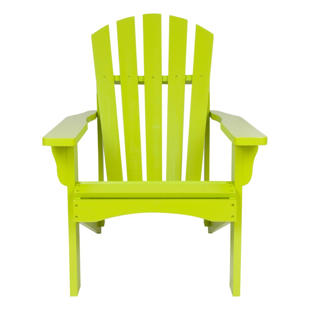 Lime Green Chairs Shine Company Rockport Lime Green Cedar Wood Adirondack Chair