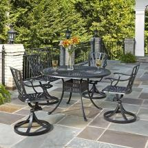 Home Styles Stone Harbor 40 In. 5-piece Slate Tile Top