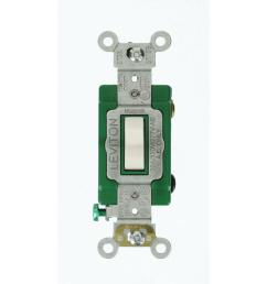 leviton 30 amp industrial grade heavy duty 3 way toggle switch anchor light switch wiring light switch toggle switch wiring for house [ 1000 x 1000 Pixel ]