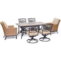 Hanover Monaco 7-piece Aluminum Outdoor Dining Set With