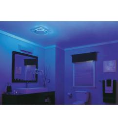 nutone lunaura round panel decorative white 110 cfm bathroom exhaust fan with light and blue led night light energy star qtnleda the home depot [ 1000 x 1000 Pixel ]