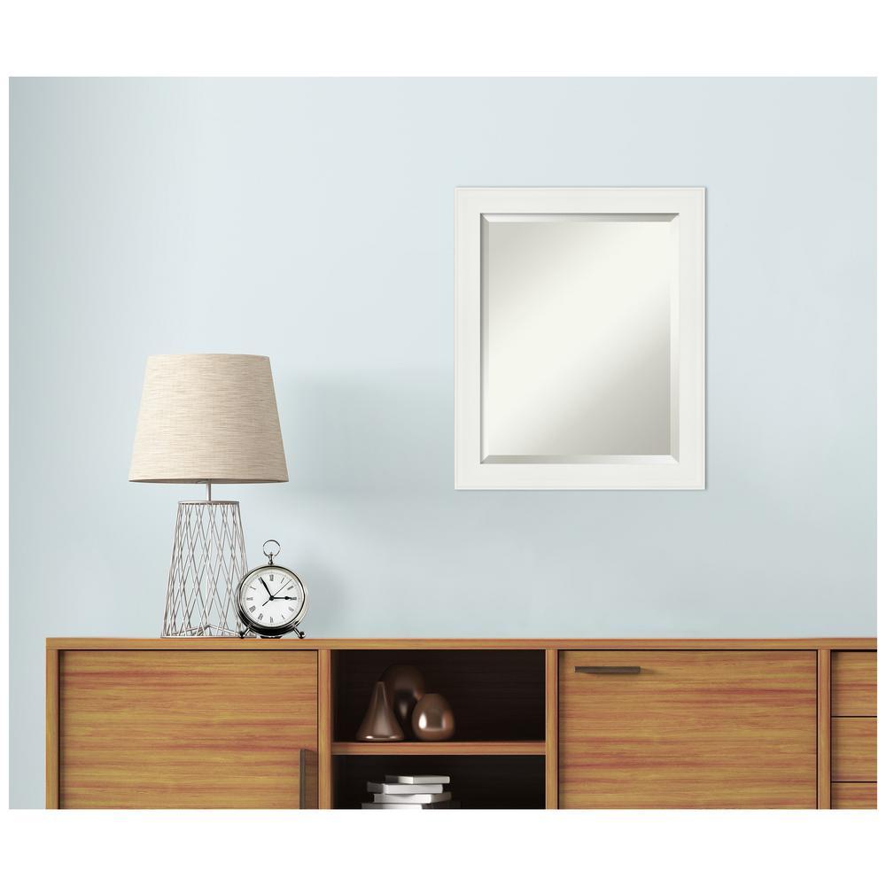 Amanti Art 19 38 In X 23 38 In Vanity White Narrow Bathroom Vanity Mirror Dsw4593026 The Home Depot