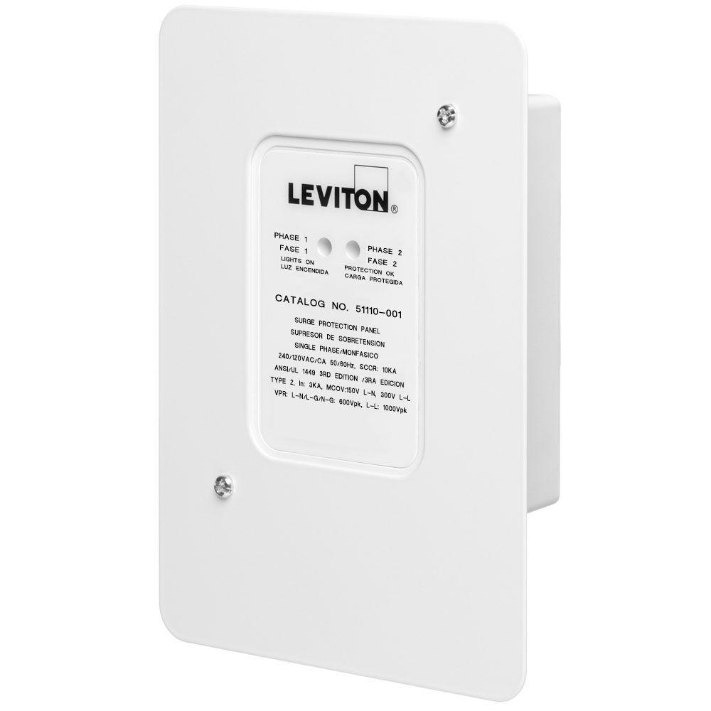 hight resolution of leviton 120 volt 240 volt residential whole house surge protector