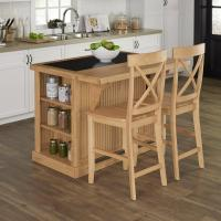 Home Styles Nantucket Maple Kitchen Island with Seating ...