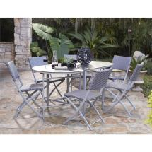 Cosco Delray Transitional 7- Piece Steel Blue & Gray Woven