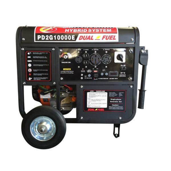Powerland 10 000-watt Portable Hybrid Dual-fuel Gasoline Propane Generator 16 Hp Engine Electric