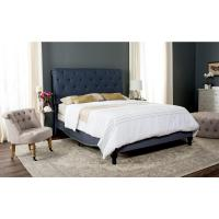 Safavieh Hathaway Navy Full Upholstered Bed-FOX6214C-F ...