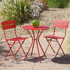 Patio Bistro Table And Chairs Victorian Style Chair Rst Brands Sol Red 3 Piece Set Op Bs3 R The Home