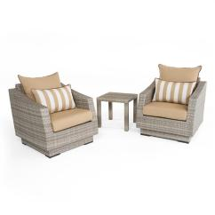 Patio Club Chair Side Chairs Living Room Rst Brands Cannes 3 Piece All Weather Wicker And Table