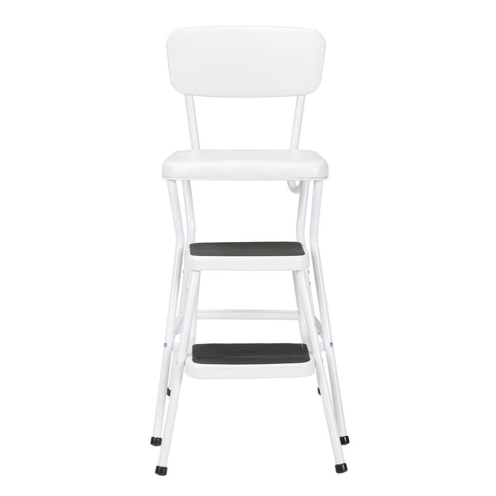 chair stool retro malkolm swivel cosco 24 in white cushioned bar 11118whte the home depot